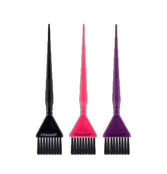 3 stk. Tri-Colored Brush Set